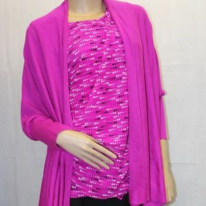 Worthington Fuchsia Cardigan Wrap/Shawl Sweater